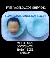 Polymer clay face mold, face mould, face mold,  baby face, free shipping (1) (2)